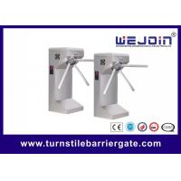 Drop arm Semi-automatic stainless steel Tripod Turnstiles with Controller and Fingerprint, RFID Reader