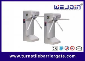 China Drop arm Semi-automatic stainless steel Tripod Turnstiles with Controller and Fingerprint, RFID Reader on sale