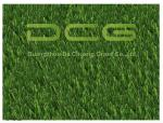 China PE Beautiful Artificial Grass For Pets , Dog Friendly Fake Grass Olive Shape wholesale