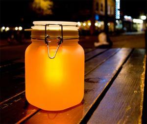China solar light jar, sunjar, night light,color light, on sale