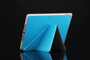 China Soft Blue Ipad Protective Case Flip Stand Cover With Sleep / Wake Function on sale