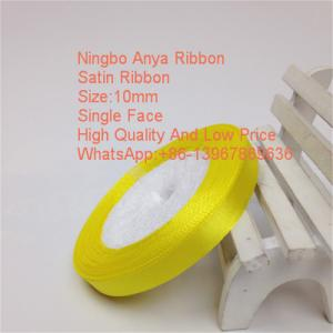 China Hot Sales Wholesale Polyester Satin Ribbon,solid colour,single face,double face,100% polyester,ribbon on sale