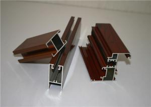 China 6060 T5 3.0MM  Wood Grain Finish On Aluminum Door Frame on sale
