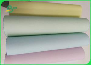 China 55 / 50 / 55 Gsm Offset Printing Copier Paper Rolls , Ncr 5 Colored Paper Jumbo Roll on sale
