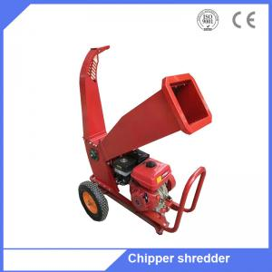 China 6.5HP gasoline engine shredder petrol wood chipper shredder machine for sale on sale