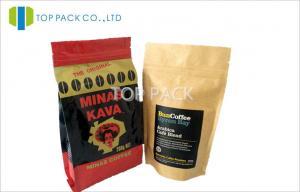 China La nourriture thermoscellable tiennent des sacs de café de serrure de fermeture éclair de sachets en plastique avec la fenêtre on sale
