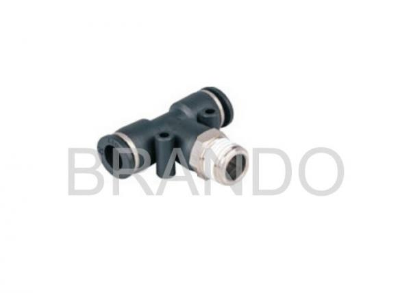 T Style Compressed Air Pneumatic Hose Fittings Male Branch Tee Type