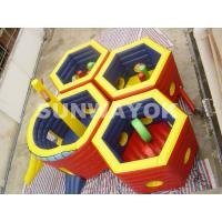 Honeycomb Inflatable Fun City / 18 Oz PVC Inflatable Play Station For Kids