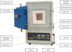 China 12L 1200C Box Type Furnace , Ceramic Insulation Laboratory Vacuum Furnace Energy Saving on sale