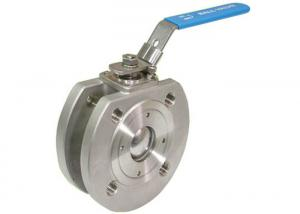 China 1 pc wafer flanged ball valve , 2 pc ball valve Stainless Steel Material on sale