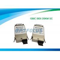 BI-DI 20KM SC Single Mode Fiber GBIC Transceiver 1310nm TX / 1550nm RX 1.25G