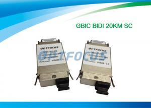 China BI-DI 20KM SC Single Mode Fiber GBIC Transceiver 1310nm TX / 1550nm RX 1.25G on sale