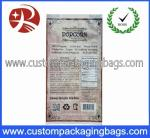 3.2mil Heat Seal Compound Custom Plastic Food Packaging Bags For Popcorn