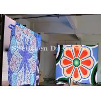 Iron Cabinet Indoor Full Color LED Display Advertising 5mm Pixels SMD2121 Black Color