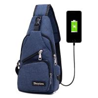 USB Charging Single Strap Backpack Leisure Canvas Couple Version For Business Trip