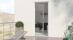 China No Wrinkle Retractable Mosquito Screen Door For French Single And Double Door on sale