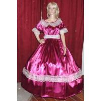 China Civil War Dress Wholesale XXS to XXXL CIVIL WAR REENACTMENT VICTORIAN DICKENS SASS Burgandy Satin Costume Dress Gown on sale