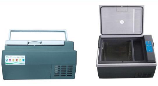 Mini 25L DC freezer solar fridge freezer AC/DC compressor fridge-(9L