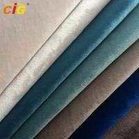 China Anti - Static Heat Insulation Super Soft Italy Velvet  Sofa Upholstery Fabric With T/C Backing on sale