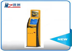 China 300 Cd/m2 Self Service Check In Kiosk Capactive LED touch screen with Receipt on sale