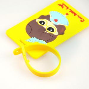 China fashion 3D soft pvc bag tag on sale