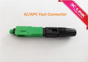 China Single / Multi Mode Fibre Optic Cable Connectors SC Field Assembly Connector on sale
