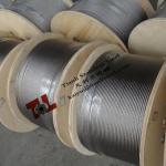 304 câble métallique d'acier inoxydable de 7x7 1mm avec le poids 4kg par 1000m SZ