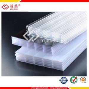 China 2015 hot sale transparent polycarbonate multiwall sheets price on sale