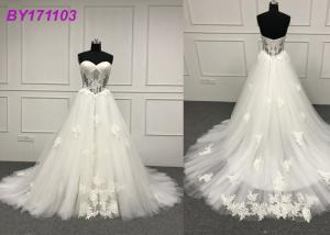China Summer Beaded Lace Princess Bride Wedding Dress For Woman Beach Wedding Party on sale