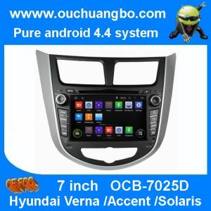 China Ouchuangbo Auto Multimedia GPS Navigation Hyundai Verna /Accent /Solaris Android 4.4 DVD P on sale