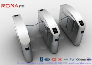 China Flap Barrier Gate Half High Turnstile Security Systems Swing Gate Flap Barrier on sale