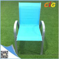 Low price stackable sling chair popular colorful reclining beach garden chair,comfortable indoor outdoor leisure lounger