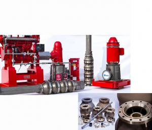 China Electric Motor Driven Vertical Turbine Fire Pump With Eaton Controller on sale