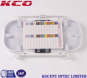 China Fiber Optic Accessories 24 Fiber Optic Terminal Box Splice Tray Grey Color on sale