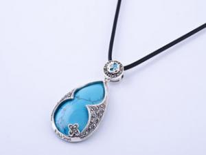China Fashionable and hot-selling Thai Silver Marcasite jewelry Pendant with Turquoise Gemstone on sale
