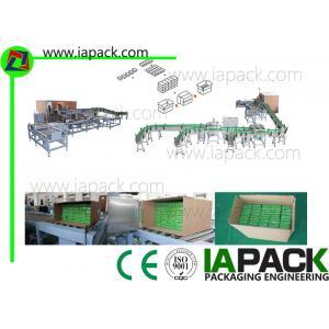 China Horizontal Carton Wrapping Machine , Automatic Cartoning Machine on sale