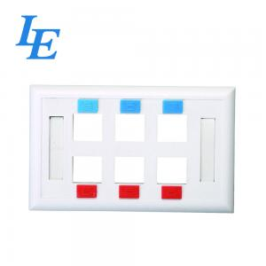 China 6 Port RJ45 Network Faceplate on sale