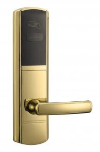 China Glod RFID Hotel Locks with key Left Open Or Right Open Door on sale