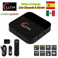China IPTV Spanish Channels Luna TV Box With 18 Months Account For Latin America on sale