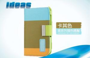 China Colorful iPhone 5 Cell Phone Leather Cases Wallet with Card Slot Magnet on sale