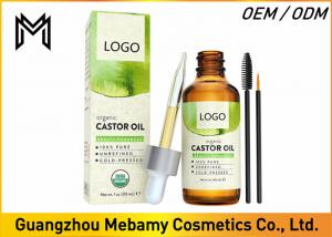 China 100% Pure Cold Pressed Castor Oil  Hexane Free Boosts Eyelashes / Hair Growth on sale