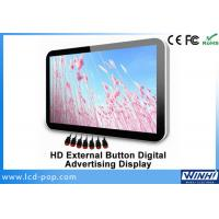19 Inch External Button LED Advertising Display , USB SD Wall Mounted Digital Signage