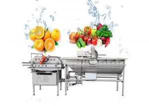 China 3000KG/H Vegetable Fruit Washing Machine Salad Cleaning equipment on sale