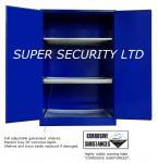 2 gabinetes de almacenamiento corrosivos bloqueables de la seguridad de la puerta con 3 bandejas de los plásticos/cerraduras de palanca del cinc