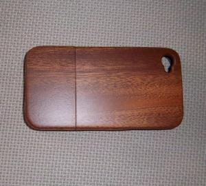 China Sapelli Wood Cell Phone Back Cover With Straight Grain,Apple Iphone Case on sale