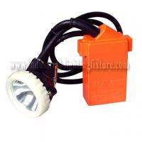 KJ4.5LM 1w IP67 LED Mining Cap Lamp 4500Lux 220V AC , Ni-MH Rechargeable Battery