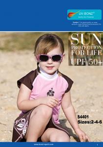 China Girls UPF50+ Sun Protection Cap Sleeved Swimwear on sale