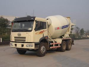 China 8 - 10cbm Faw Auto Truck Mounted Concrete Mixer 6x4 HZZ5250GJBJF on sale