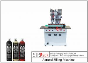 China Semi Automatic Aerosol Spray Paint Filling Machine For Air Freshener / Refrigerant on sale