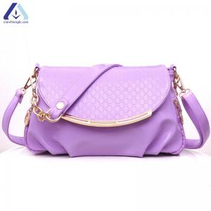 China Wholesale Oily PU Leather Messenger Bag Trendy Cross Body Women Strap Messenger Bag BHB998 on sale